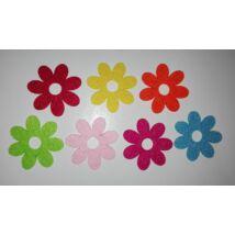Filc virágok 7 db/csomag