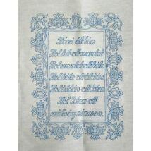 Előnyomott kézimunka (kress vászonra) házi áldás 40x50 cm torockói minta