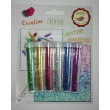 Glitterpor 6 féle szín, 4g/szín