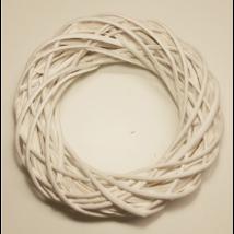 Vessző koszorú fehér 30 cm