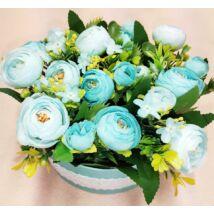 Kék virágdoboz 16 cm