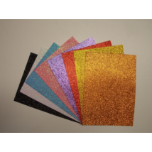 Dekorgumi glitteres A/4 (több színben)