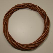 Vessző koszorú középbarna 25 cm