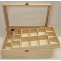 Tároló doboz dupla szintes