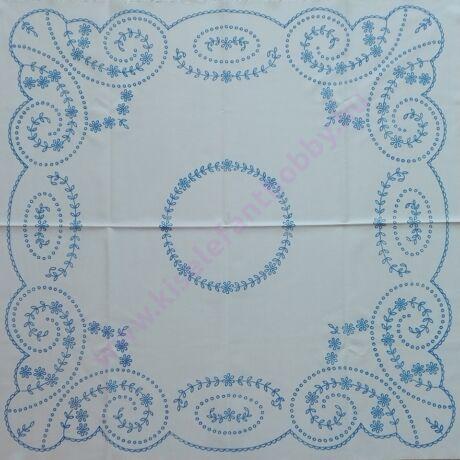 Előnyomott hímezhető kézimunka - madeira mintás 90X90 cm