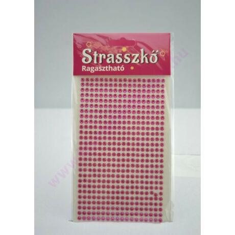 Öntapadós strassz pink 4mm
