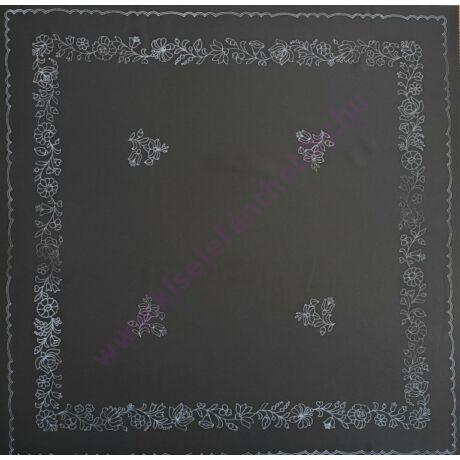 Fekete kalocsai abrosz (90X90 - 31)