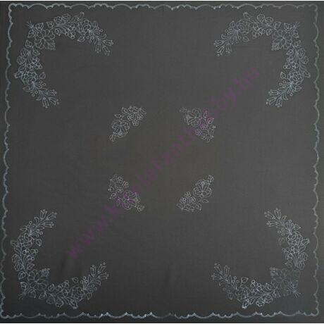 Fekete kalocsai abrosz (90X90 - 7)