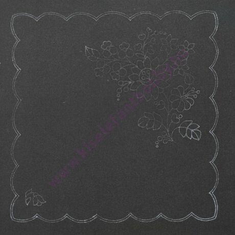 Fekete kalocsai minta (30X30 -  770)