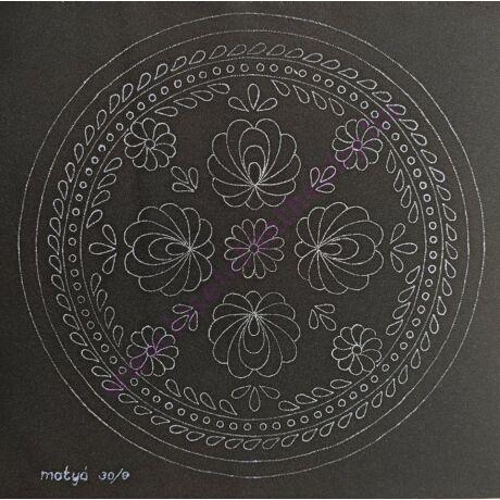 Fekete matyó minta (30X30 - 13 )