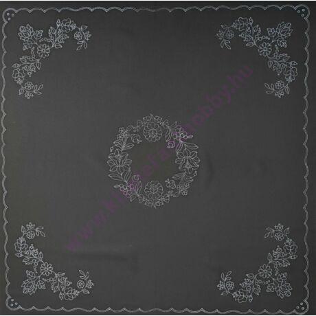 Fekete kalocsai abrosz (90X90 - 48)