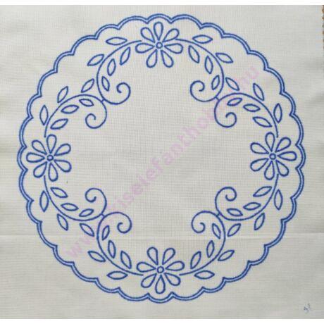 Karádi/fehér hímzés 30x30 cm- 31