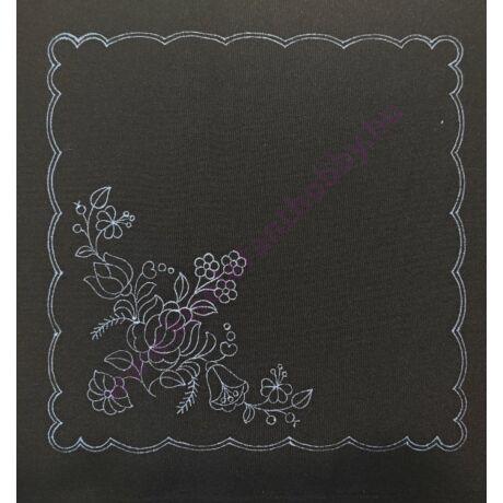 Fekete kalocsai minta (30X30 - -- )