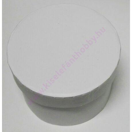 Kis kerek papírdoboz 8x6 cm fehér