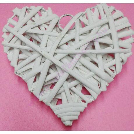 Fehér vessző szív 25 cm