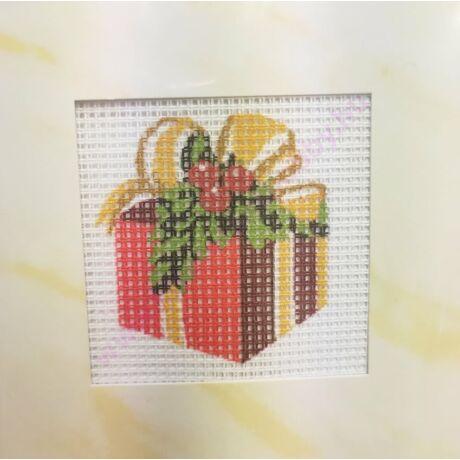 Gobelin cérnával és papírkerettel 6,5x6,5 cm
