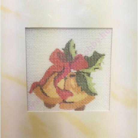 TűGOBELIN CÉRNÁVAL ÉS PAPÍRKERETTEL 6,5x6,5 cm