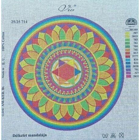 Tűgobelin 25x25 cm - Délkelet mandalája