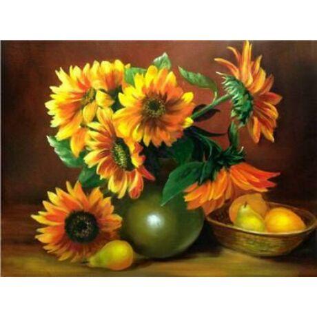 Festés számok szerint festőkészlet fa kerettel  40x50 cm