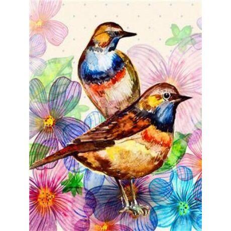 Festés számok szerint festőkészlet fa kerettel  30x40 cm