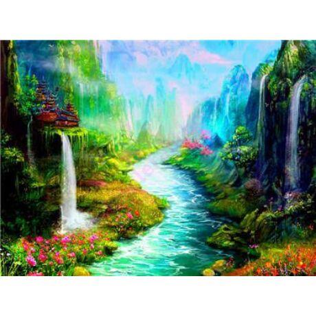Festés számok szerint festőkészlet fa kerettel  50x65 cm
