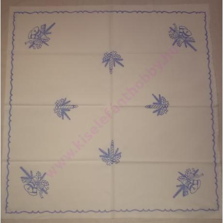 Előnyomott hímezhető kézimunka - karácsonyi minta 90X90 cm - 1