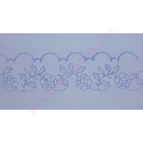 Előnyomott kézimunka szekrénycsík - rózsamintás - 2