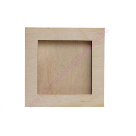 Fa képkeret 6x6cm méretű alaplaphoz