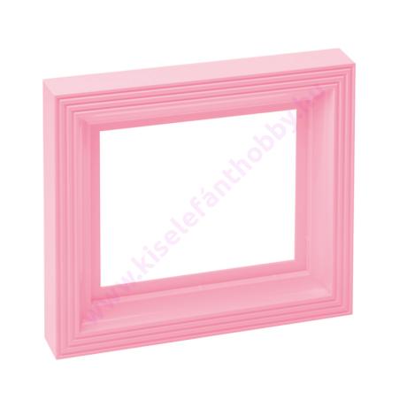 Műanyag képkeret 1 alaplaphoz - rózsaszín
