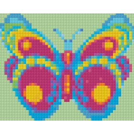 Zöld-lila pillangó