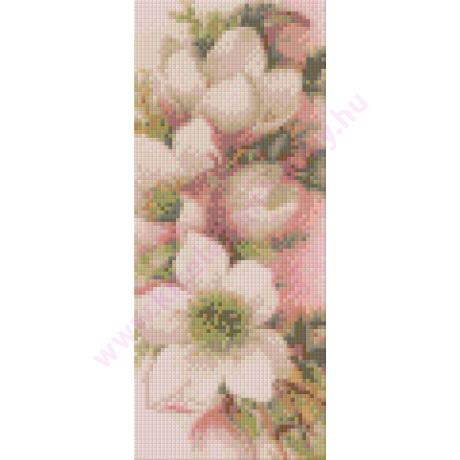 Rózsaszín virágok pixelhobby kirakó