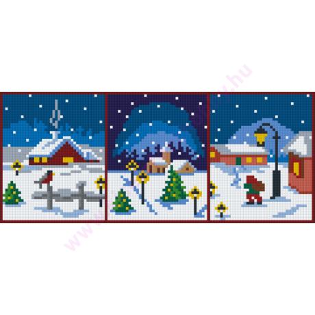 Karácsonyi részletek pixelhobby kirakó