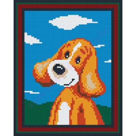 Boldog kölyökkutya pixelhobby kirakó