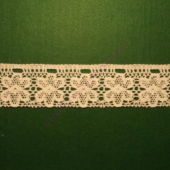 Fehér pamut csipke 4,5 cm