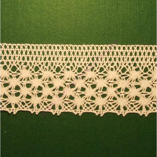 Fehér pamut csipke 7,5 cm