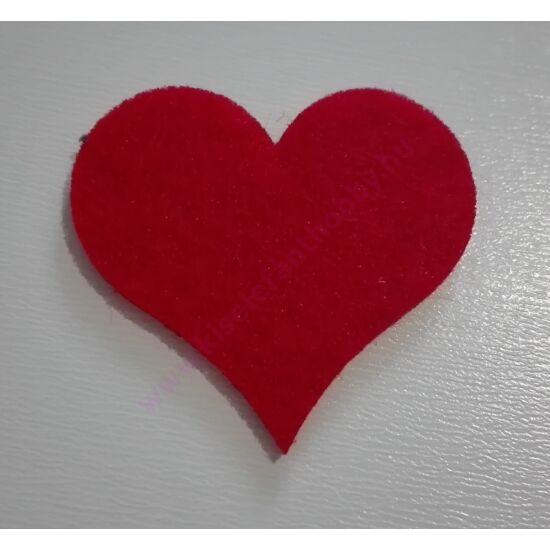 Filc szív 6 db/csomag