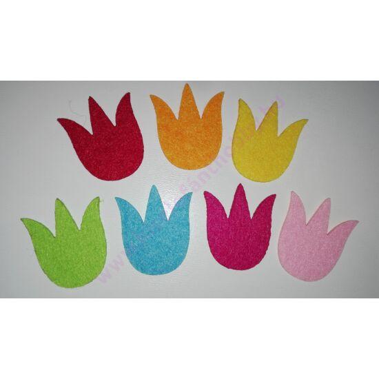 Filc tulipánok 7 db/csomag