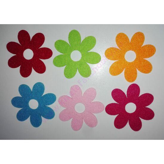 Filc virágok 6 db/csomag