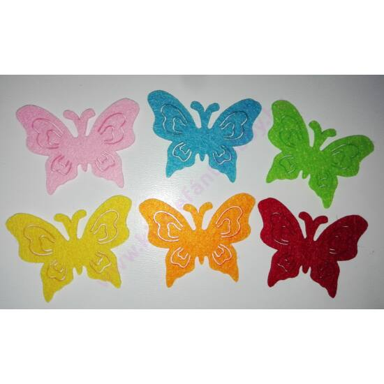 Filc pillangók 6 db/csomag