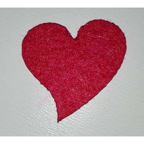 Filc francia szívek 10 db/csomag