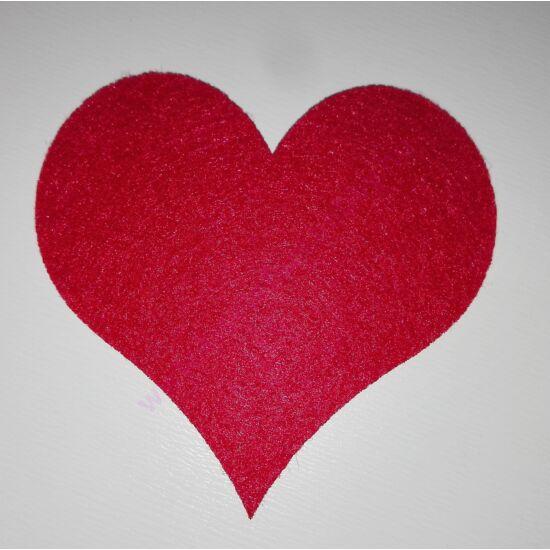 Filc szívek 6 db/csomag