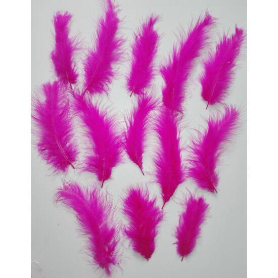Ciklámen színű puha toll