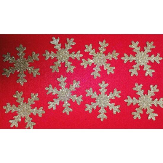 Csillogó hópehely (több színben)
