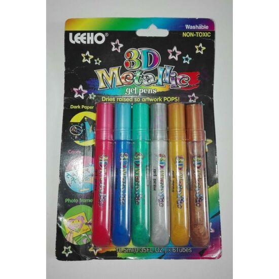 3D metál díszítő toll 6 szín