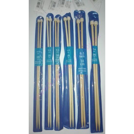 Egyenes bambusz kötőtű 4,5-7