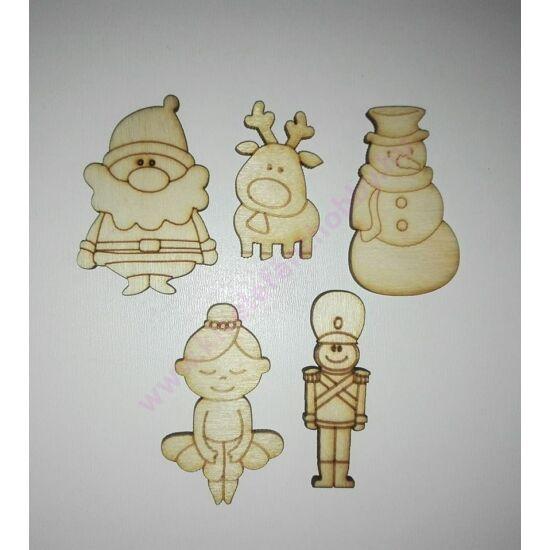 Karácsonyi figurák 5 db