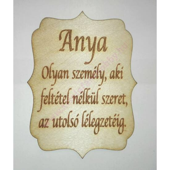 Fatábla Anya...