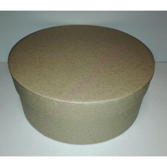 Kerek papírdoboz barna 17 cm