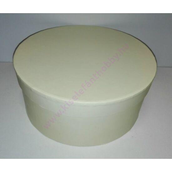 Kerek papírdoboz nyers 15,5 cm