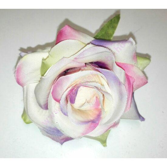 Selyemrózsa lila-rózsaszín cirkás közepes